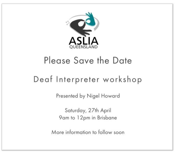 Deaf Interpreter Workshop