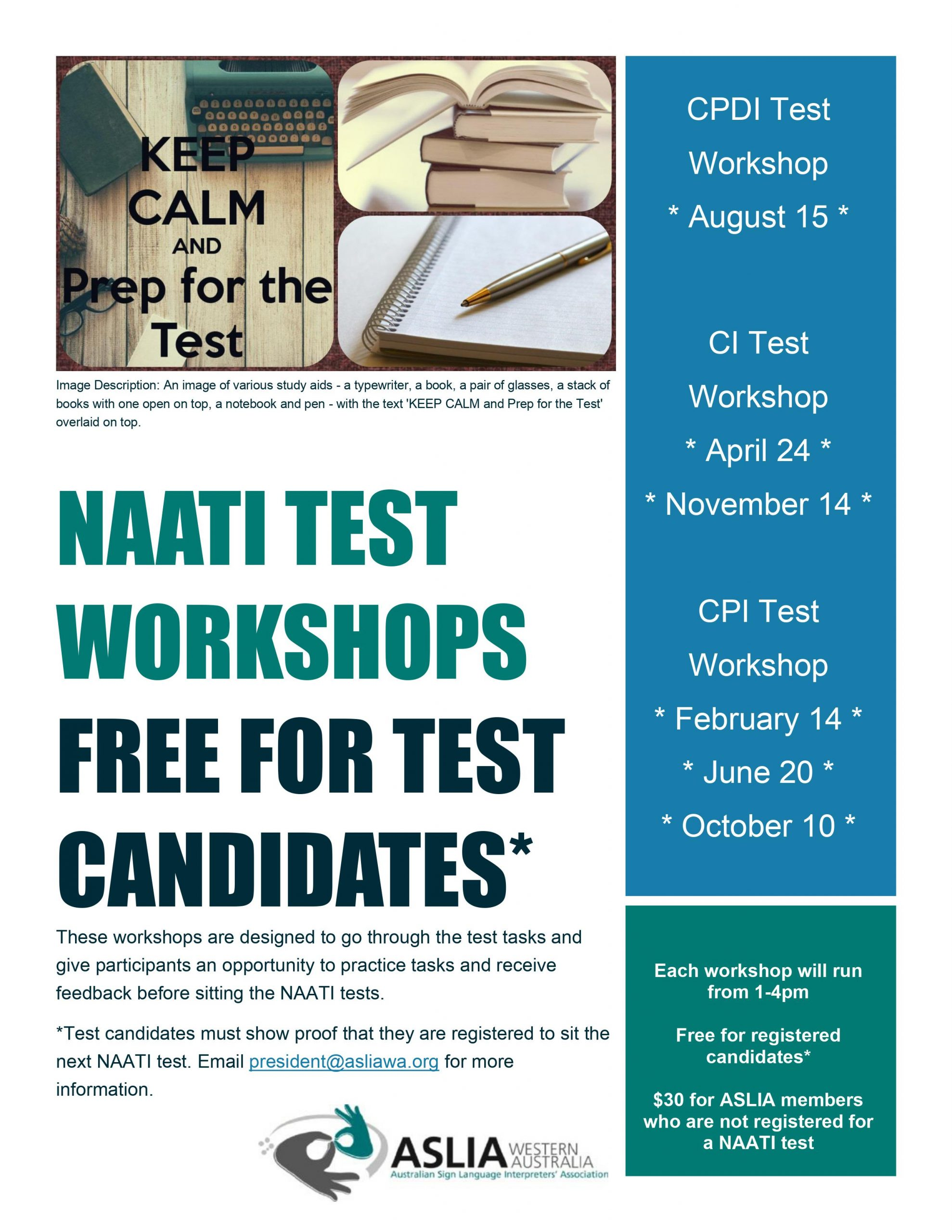 ASLIA (WA) CPI Test Workshop/2021 June