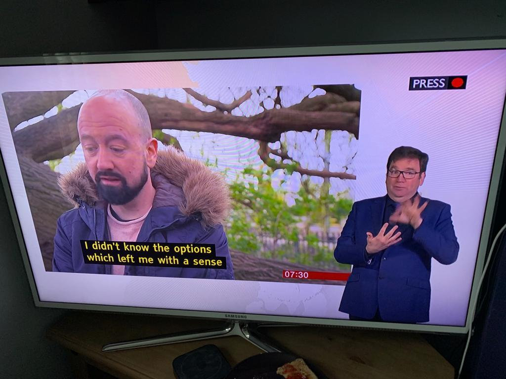Robert Adam becomes Deaf BSL Interpreter for the BBC