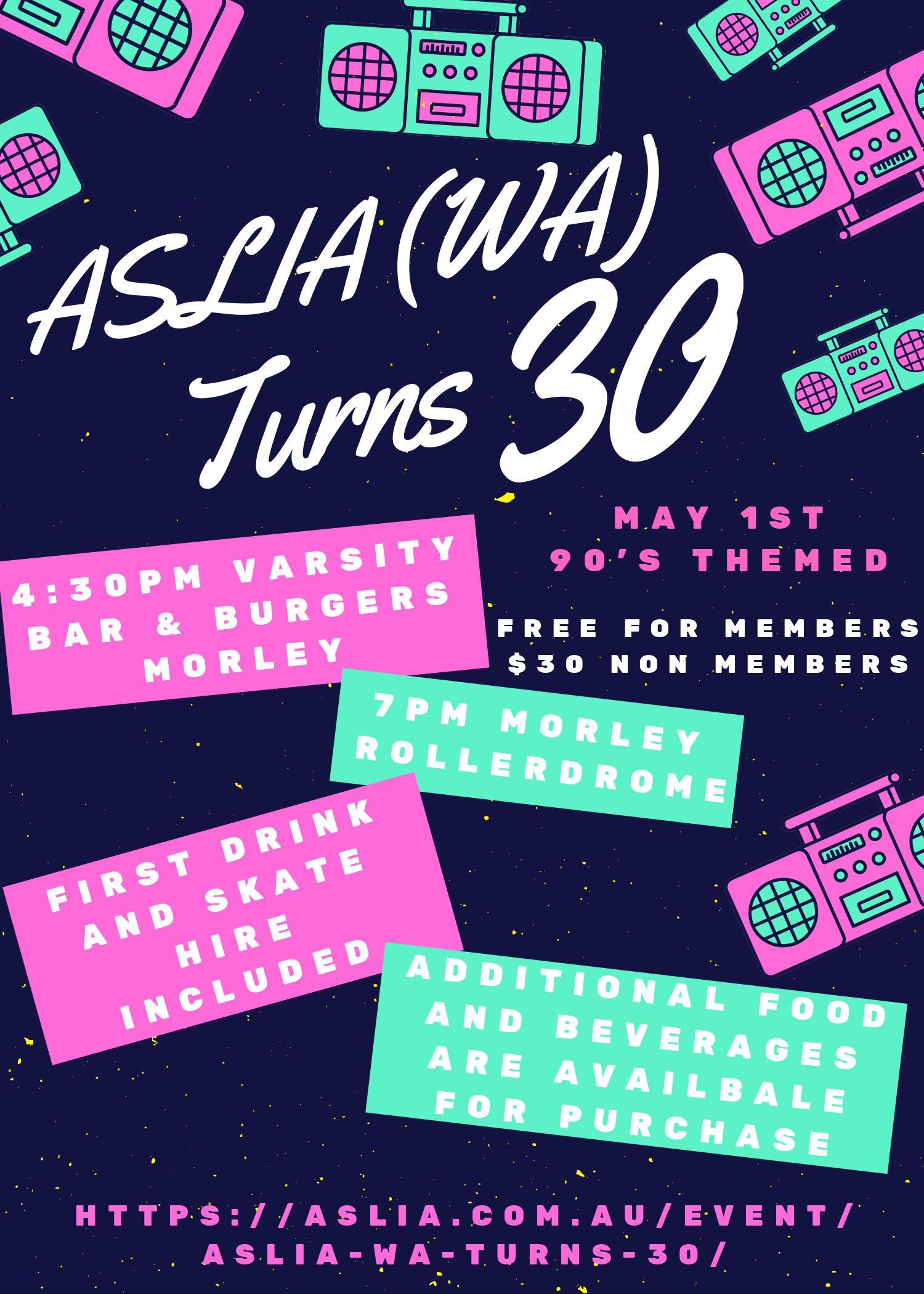 ASLIA (WA) Turns 30