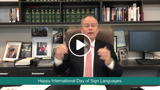Happy International Day of Sign Languages