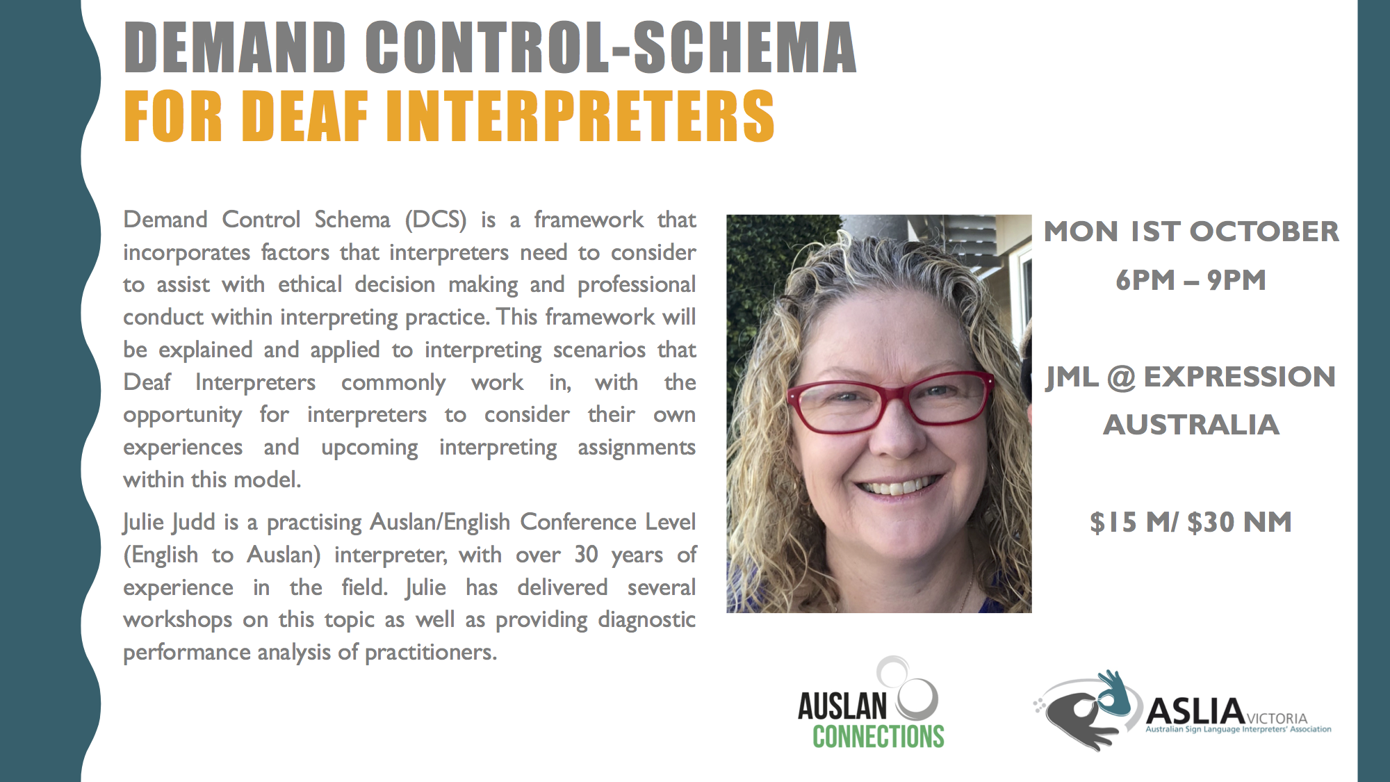 Demand Control Schema for Deaf Interpreters