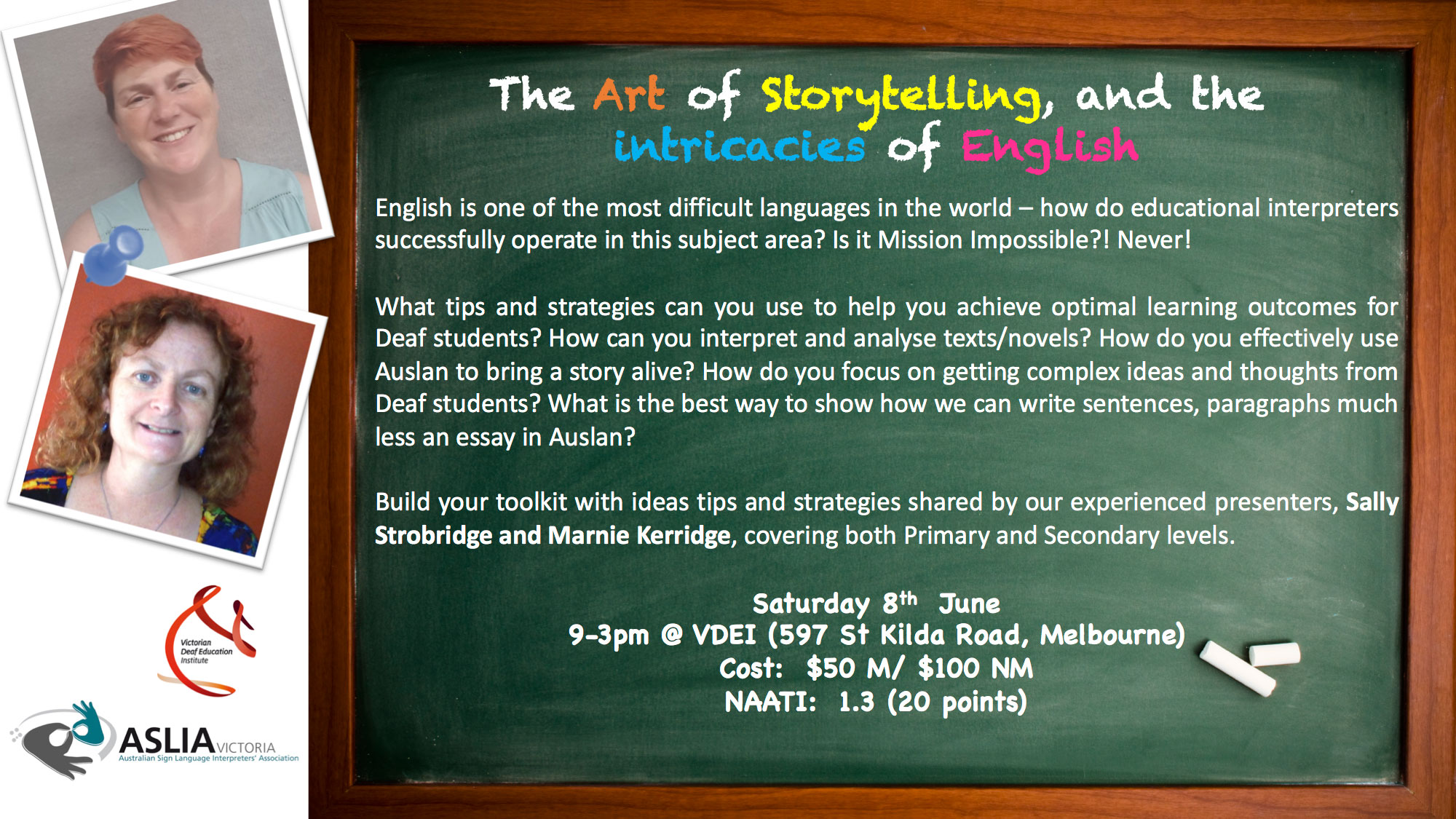 The Art of Storytelling, and the intricacies of English
