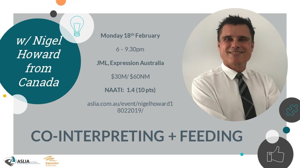 Co-Interpreting + Feeding by Nigel Howard