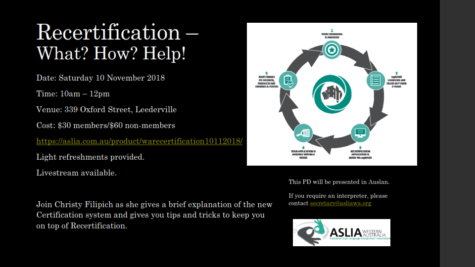 Recertification: What? How? Help!