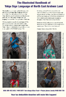Support the distribution of the Yolngu Sign Language Book in the North East Arnhem Land
