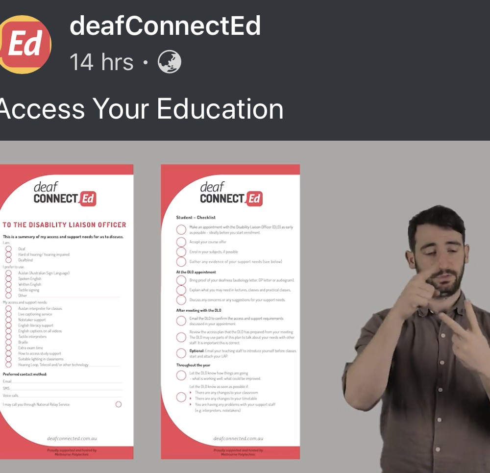 Great resource for deaf students accessing higher education by ConnectEd