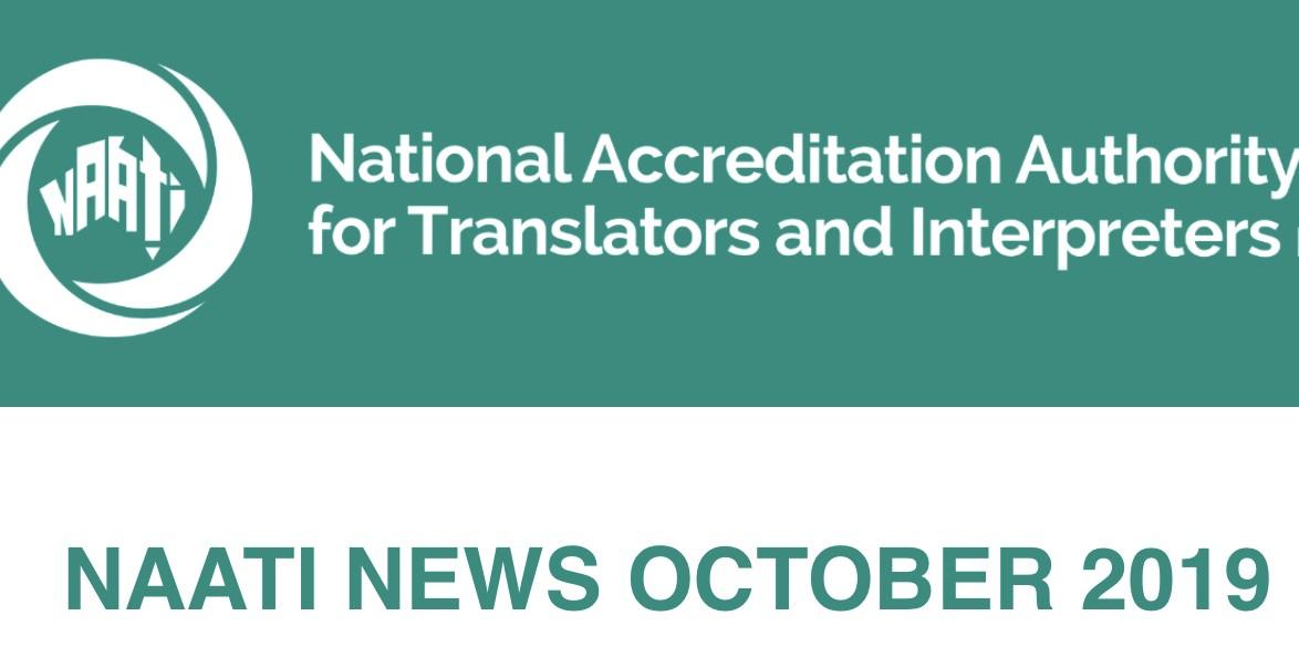 NAATI News – November 2019