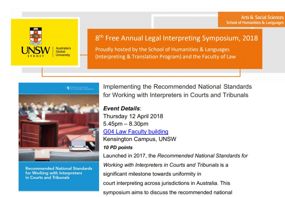 Implementing the Recommended National Standards for Working with Interpreters in Courts and Tribunals