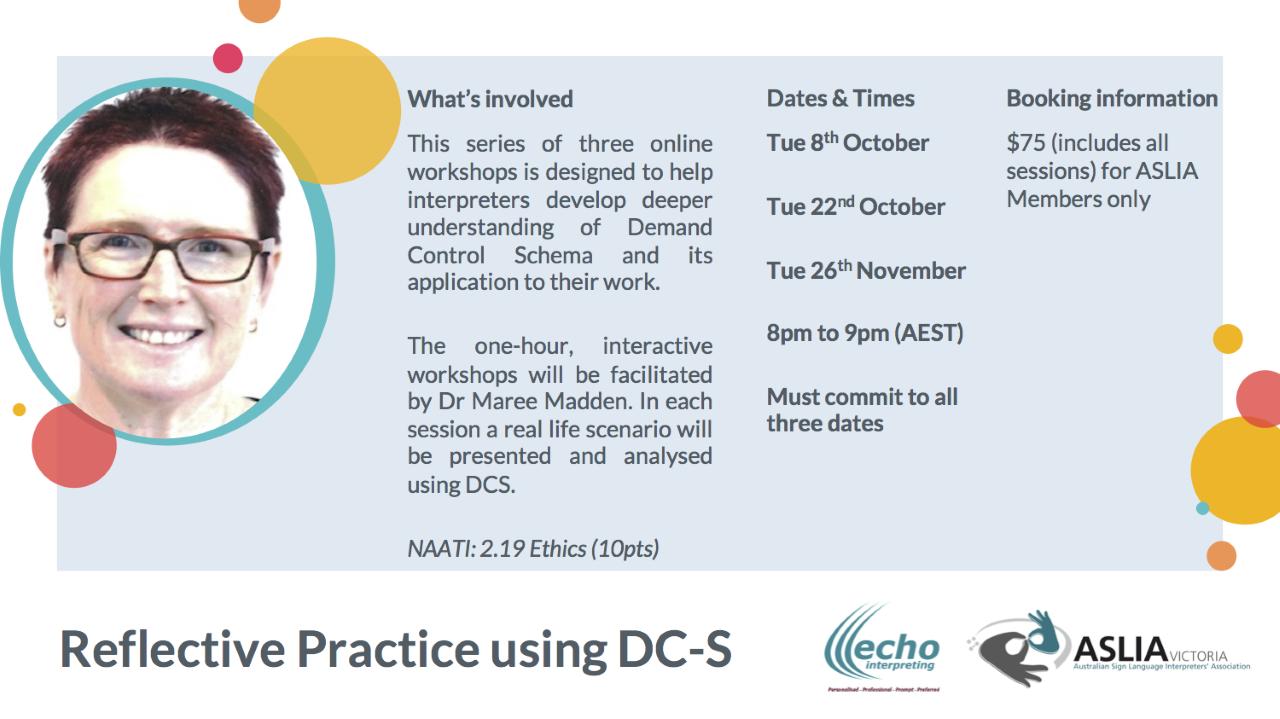 Reflective Practice using DC-S